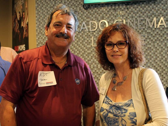 Dale Mckeag and Sallie Rice at the August Business
