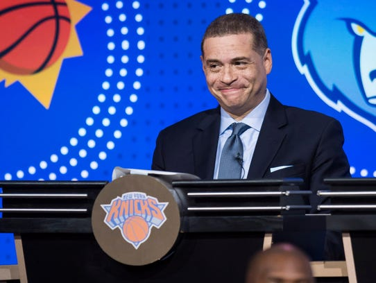 New York Knicks General Manager Scott Perry during