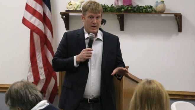 Navy pilot veteran, Ken Harbaugh mad an exploratory visit to the Richland County Democrat Party on Thursday. Harbaugh is looking to run against Bob Gibbs in the Ohio 7th district.