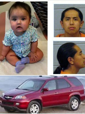 An Amber Alert has been issued for 8-month-old Ariana Smith, who is believed to be in an Acura SUV driven by Leighraughnzo Benally. The SUV was stolen in Bernalillo County.