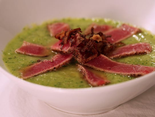Stilt House Gastro Bar has a variety of options, including the ahi tuna with cucumber mango gazpacho.