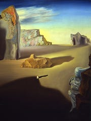 """Shades of Night Descending,"" one of Dali's works in which the landscape of his birthplace figures greatly."