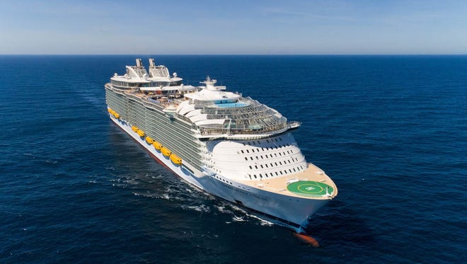 At 228,081 tons, Royal Caribbean's Symphony of the Seas was the world's largest cruise ship at the time of its debut in March 2018.