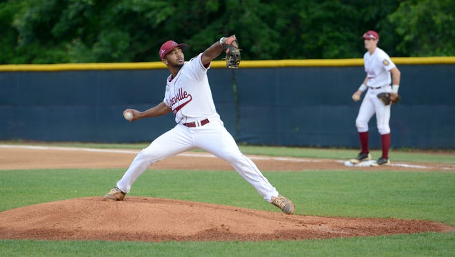 Devin Mangum was the winning pitcher for Asheville Post 70 on Tuesday night.