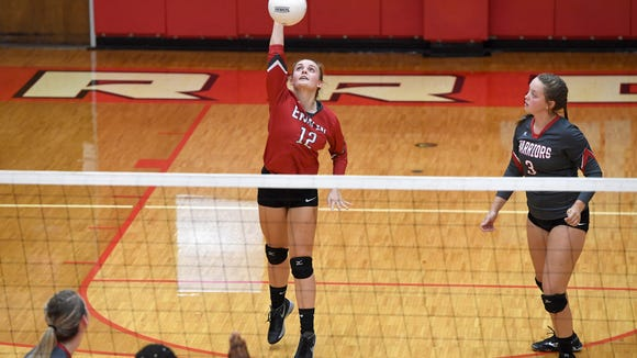 Erwin hosted Roberson in volleyball on Tuesday, Sept. 26, 2017. The Lady Rams defeated the Lady Warriors is four games: 20-25, 25-8, 25-21, 25-16.