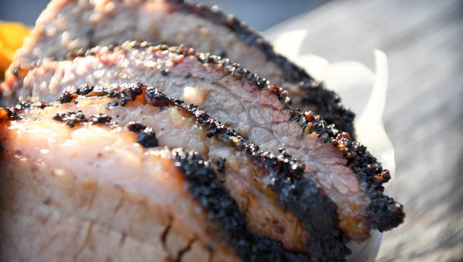A.J. Gregson and Autumn Pittman will smoke turkey, pork and brisket like the one pictured here at their new East Asheville barbecue restaurant.