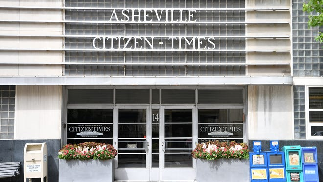 The Asheville Citizen Times building at 14 O Henry Avenue downtown on Friday, July 28, 2017.
