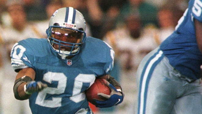 Lions running back Barry Sanders in 1997.
