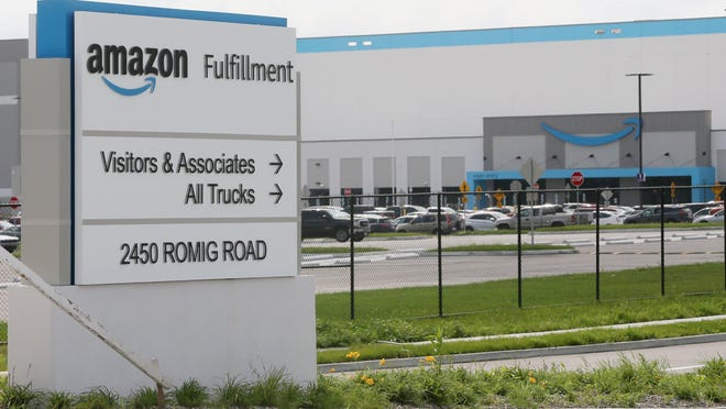The new Amazon fulfillment center that has been built on the site of the former Rolling Acres Mall off Romig Road on Thursday Sept. 10, 2020 in Akron.