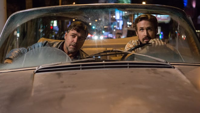 """Russell Crowe and Ryan Gosling star in """"The Nice Guys."""""""