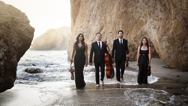 "In partnership with the New West Symphony, the Lyris Quartet played ""Salmagundi,"" a commissioned work by Emmy Award winning composer Bruce Broughton."