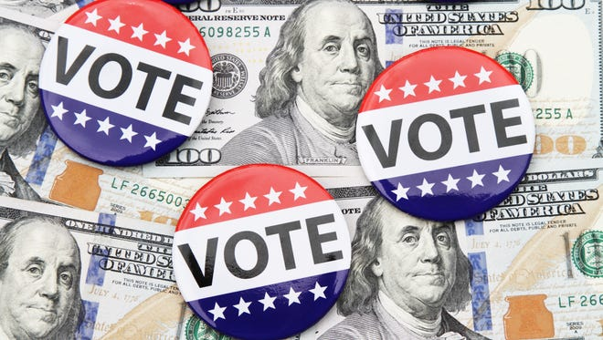 Money drives political campaigns.