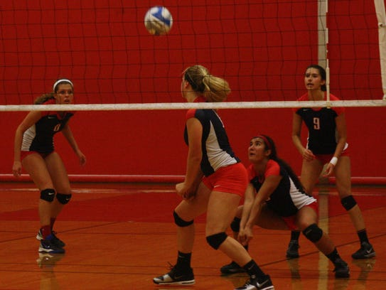 Denae Tolu focuses on a pass during Thursday's victory