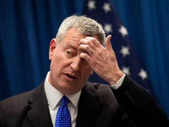New York City Mayor Bill de Blasio insists that vaccines are safe.