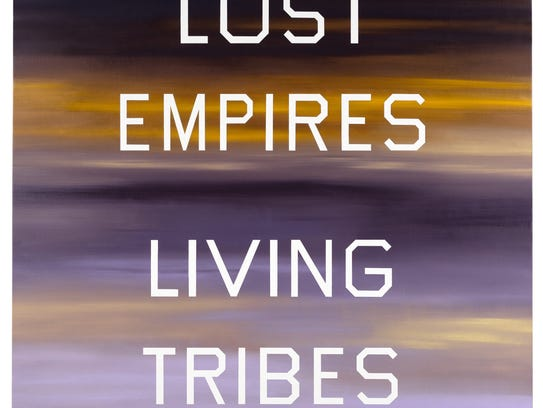 5. Ed Ruscha, Lost Empires, Living Tribes, 1984, Oil