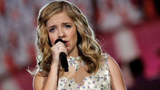 Jackie Evancho performs at the 25th National Memorial Day Concert at the U.S. Capitol, West Lawn May 25, 2014 in Washington, DC.