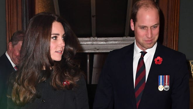 Duchess Kate and Prince William at Royal Albert Hall in London on Nov. 12, 2016.