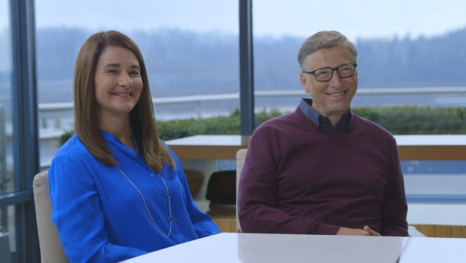 Melinda and Bill Gates, whose $43.5 billion foundation releases its 16th annual letter Monday.