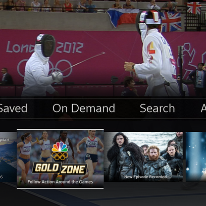 Comcast is rolling features and technology, illustrated in this screen grab, for the Olympics that executives say could change TV viewing and ultimately help keep customers.