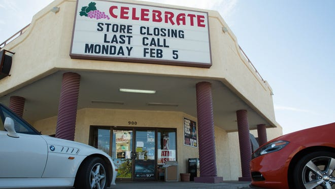 The Telshor location of Celebrate is closing its doors, but the Valley dr location is remaining open. Monday Feburary 5, 2018.