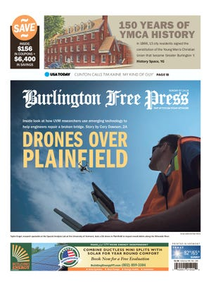 Reporter Cory Dawson wrote this story about the University of Vermont putting advanced drone technology to use in civilian projects.