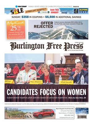 Reporter Jess Aloe wrote this story about Vermont's gubernatorial candidates debating women's issues.