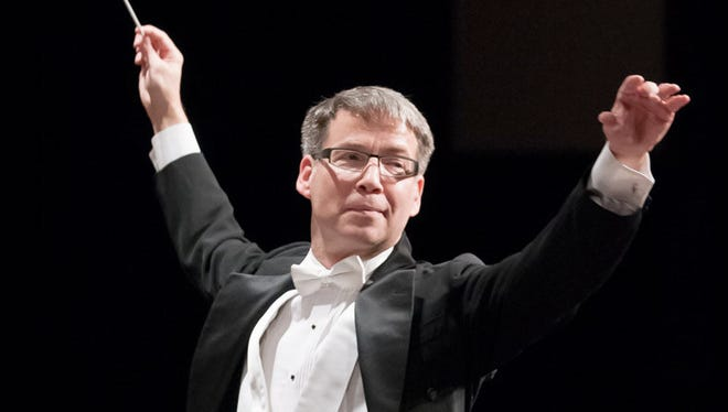 Jerry Steichen led the Wichita Falls Symphony Orchestra's Hometown Christmas concert Dec. 10 at Memorial Auditorium.