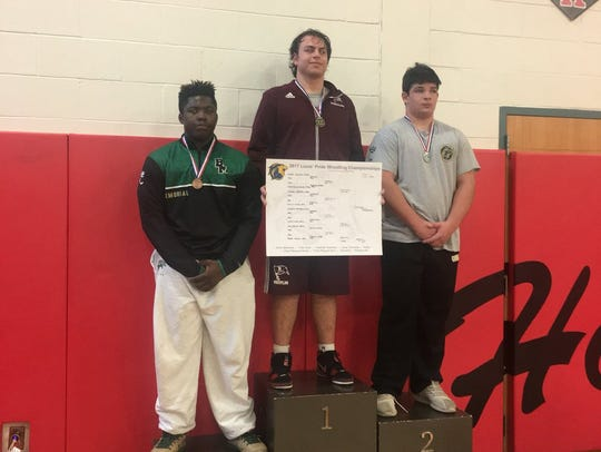 Joe D'Alessio won gold for Nutley in 220-pound class