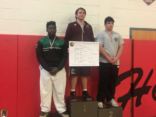 Joe D'Alessio won gold for Nutley in 220-pound class at TCNJ Pride Tournament.