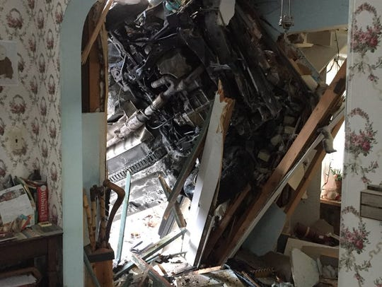A car crashed into a home in Wauwatosa on Thursday,