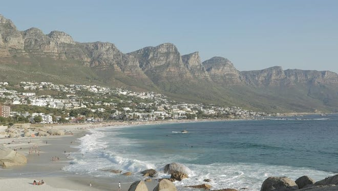 Camps Bay in Cape Town, South Africa boasts beautiful beaches.