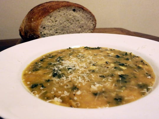 Kale and bean soup is a great way to bring kale into your diet even if you aren't a kale fan.