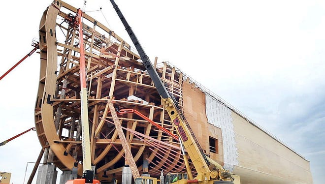 The Ark Encounter under construction in early May.