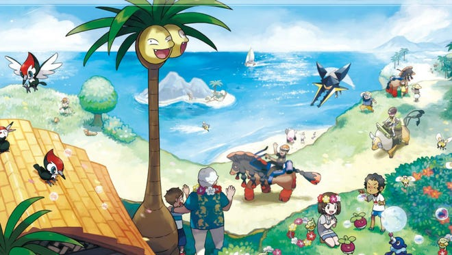 A scene from the new Pokémon world presented in the Sun and Moon installments.