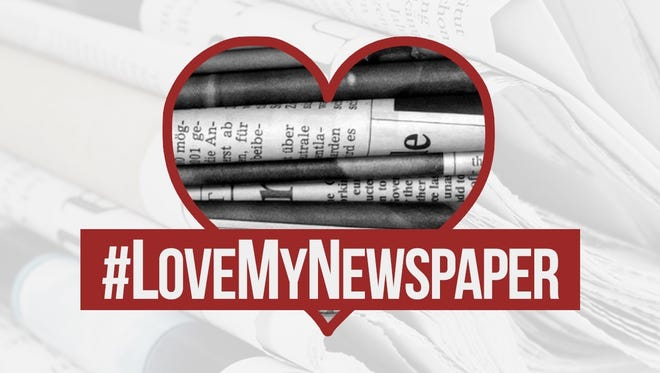Tuesday is #LoveMyNewspaper Day.