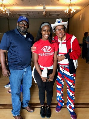 Boys & Girls Clubs of St. Lucie County CEO Will Armstead, left, with 2018 Youth of Year Rebecca Rebecca, and Dr. Shamsher Singh.