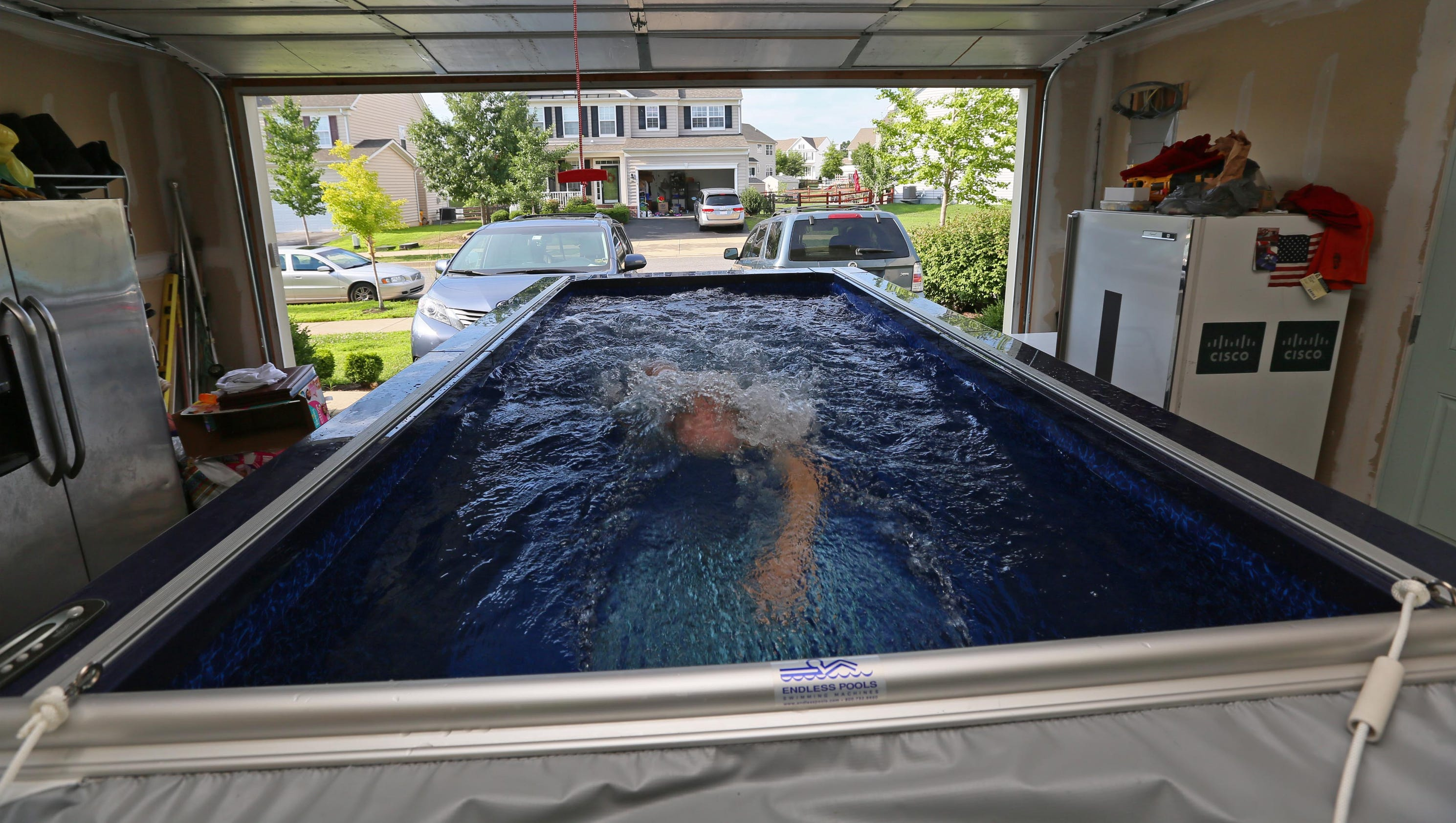 Middletown Family Parks Pool In Garage
