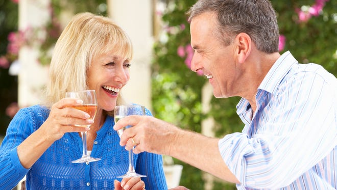 A new study says older couples who drink together are happier than couples where only one person drinks.