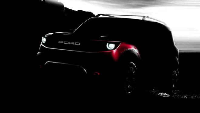 Unnamed future Ford SUV teaser photo.