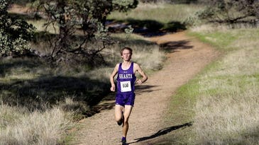 Prep cross-country: Shasta's Skoy, Hall win at section cross-country championships