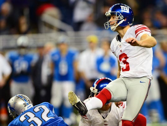 Giants kicker Josh Brown