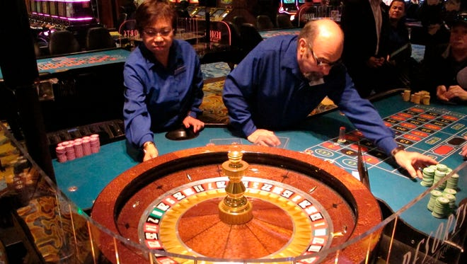 A game of roulette underway at Resorts Casino Hotel in Atlantic City, N.J.
