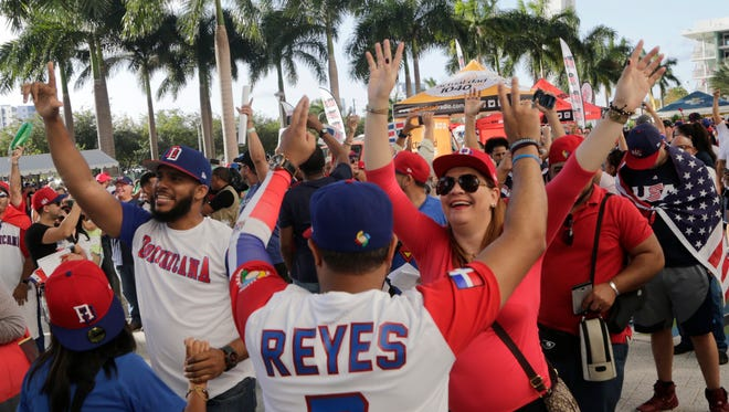 Jubilant fans of the Dominican Republic's World Baseball Classic squad have been impossible to miss in and around Marlins Park in Miami.