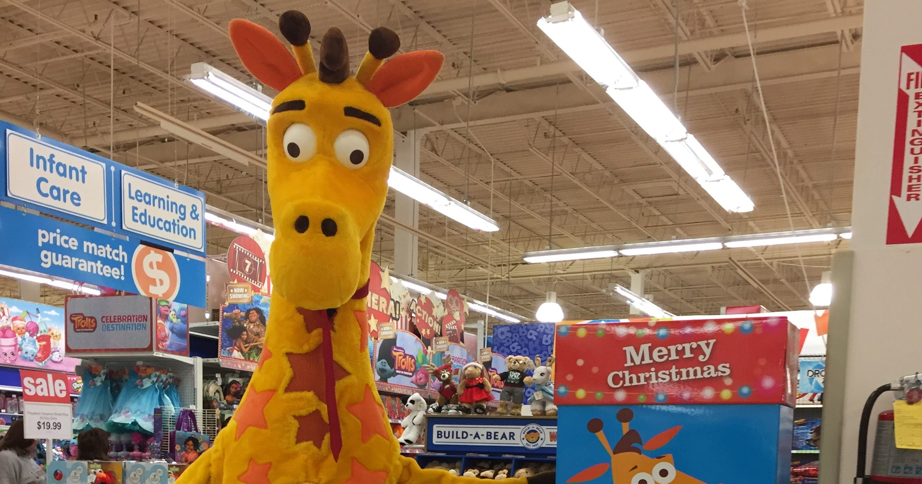 At Toys R Us Hq Everything Is On Sale Even Geoffrey The Giraffe