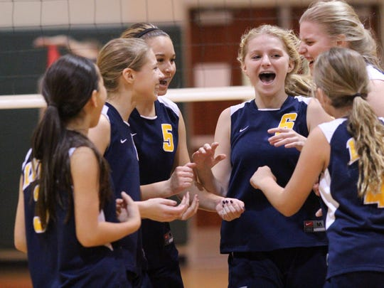 Scenes from Monday night's Lee County Middle School Girls Volleyball Championship between Caloosa and Lexington.