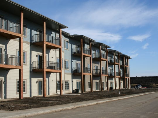 The first units in an apartment complex developed by Hegg Cos. and Lloyd Cos. opened recently.