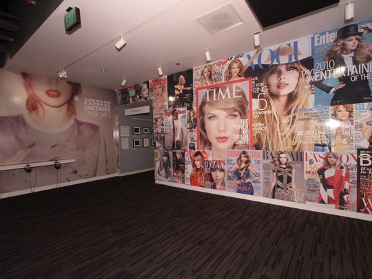 "These walls of ""The Taylor Swift Experience,"" an exhibit"