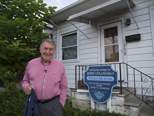 Jerry Colangelo stands outside his boyhood home in Chicago Heights on July 23, 2015.