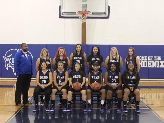 2015-2016 Wilson Women's basketball team