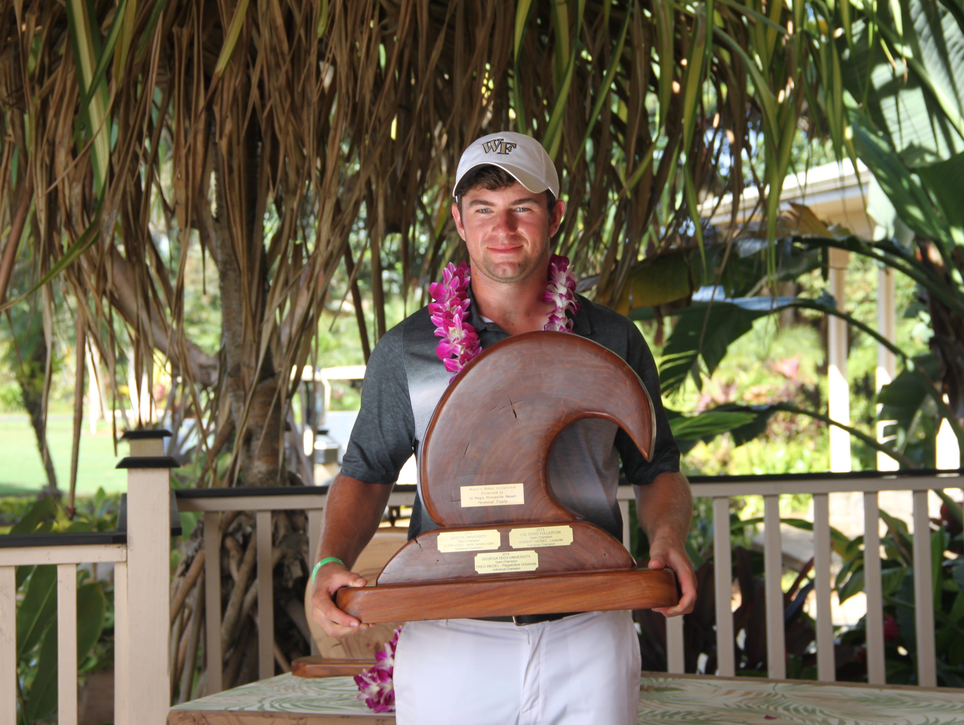 Cameron Young won the Warrior Princeville Makai Invitational in Hawaii last month to close out his first semester of competition at Wake Forest.